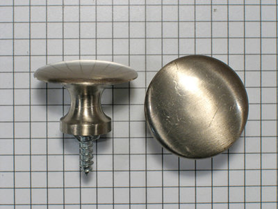 Knop 30 mm mat verchroomd