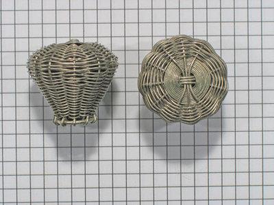 Knop gevlochten, chroomkleur, diam. 30 mm
