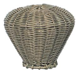 Knop gevlochten, chroomkleur, diam. 44 mm