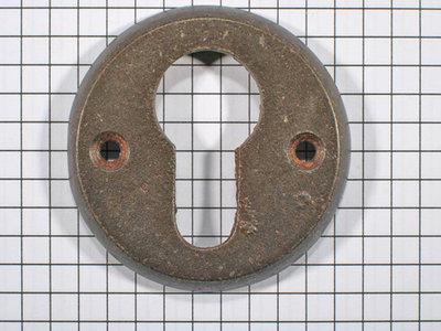 Cylinderslotplaat ijzer geroest