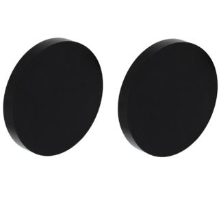 2 Afdekplaatjes ø55x8mm Aluminium Zwart