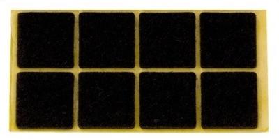 Zelfklevend Vilt Bruin 16 x 44 mm 8 Stuks