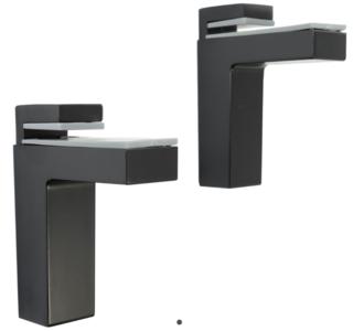 Glas/Plankdrager Angolo Maxi 8-50 mm Zwart