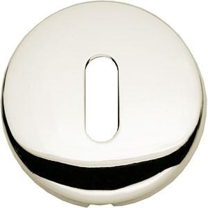 Sleutelplaatje bol rond verdekt kunststof nikkel
