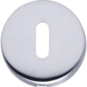 Sleutelplaatje bol rond verdekt kunststof mat chroom