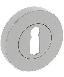 Sleutelplaatje rond ø52x10mm met nokken wit