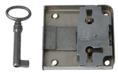 Opdekslot 40 mm Vernikkeld Met Sleutel