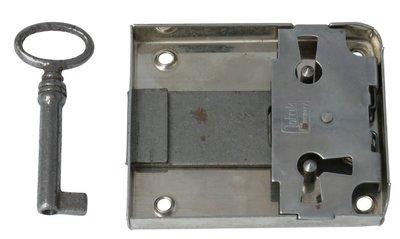 Opdekslot 50 mm Vernikkeld Met Sleutel