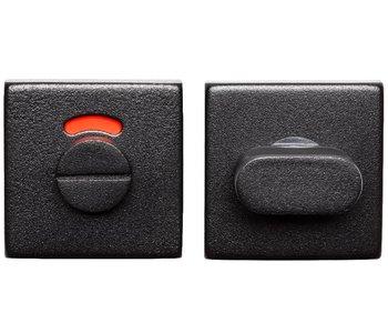 Toilet-garnituur rvs/zwart vierkant (rood/wit)