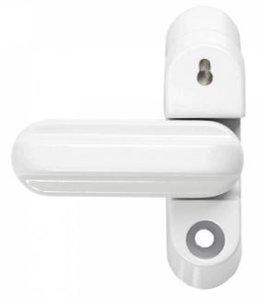 Axa bijzetgrendel naar binnendraaiend, met cilinderslot 38 x 60 x 75 mm wit