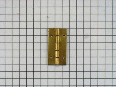 Scharniertje 25 x 13 mm ijzer vermessingd