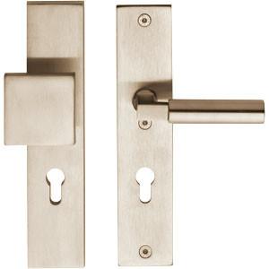 SKG3 Veiligheid-garnituur rechthoek massief greep/kruk PC72 nikkel mat