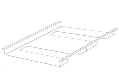 Wandsysteem ONE Metalen Glashouder Bodem zwart 300 mm