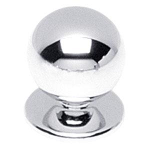 Knop bolrond chroom 20 mm