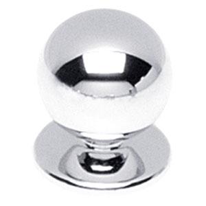 Knop bolrond chroom 25 mm