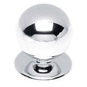 Knop bolrond chroom 30 mm