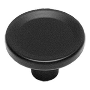 Knop rond groot mat zwart