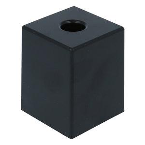 Meubelpoot kunststof zwart