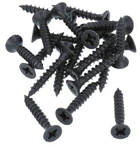 20 stuks Zwarte Schroeven Pozy Drive 4.0 x 25 mm