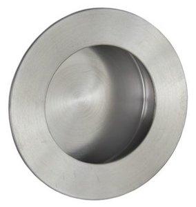 Schuifdeurkom rond 65 mm RVS