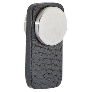 Knop tong Leder Zwart 20x40 mm