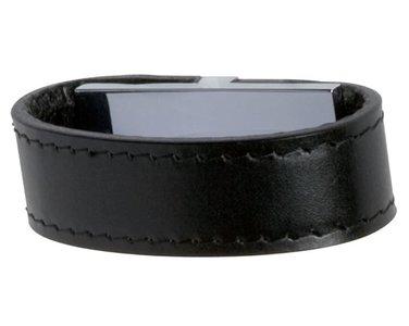 Greep Band Leder Zwart 32 mm