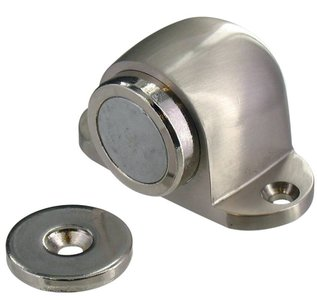 Deurvastzetter Vloerbevestiging magnetisch Mat Nikkel