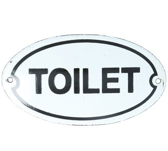 Bordje emaille 'Toilet' 135 x 75 mm