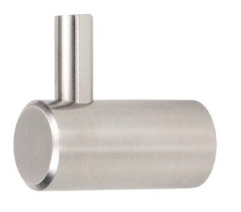 Kapstokhaak RVS Rond 28 mm