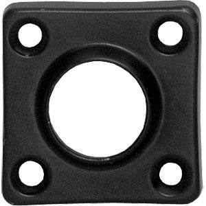 Rozet vierkant mat zwart