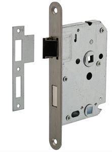 Intersteel Badkamer/Toilet slot 63/8mm Met RVS Voorplaat 20X175 mm
