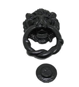 Deurklopper leeuwenkop, ijzer zwart