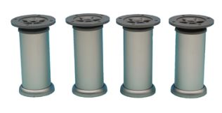 Set van 4 Meubelpoten Aluminium 100 mm