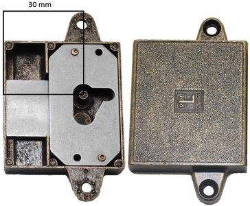 Meubelslot 30 mm rechts brons