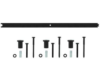 Tussenrail 90 cm tbv schuifdeursysteem mat zwart