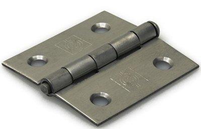 Scharnier 51x51 mm rechte hoek losse pen RVS