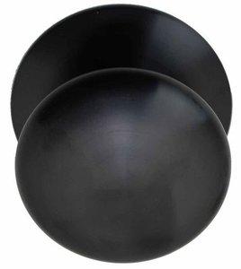 Voordeurknop BASIC LB80V Vast op Rozet PVD Gunmetal