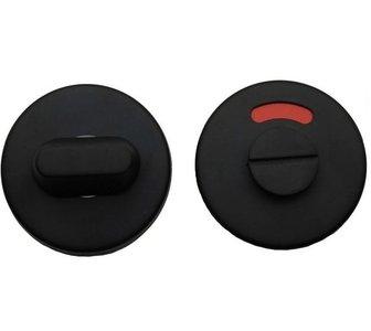 WC-Sluiting 8 mm Rond verdekt Mat Zwart