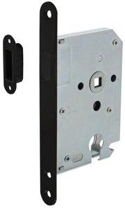 Intersteel Magneet Cilinder Dag en Nachtslot PC55 Met Zwarte Voorplaat 20X175 mm