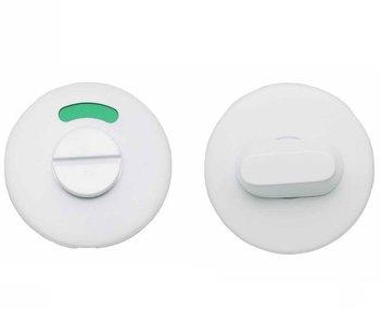 WC-Sluiting 8 mm Rond verdekt Mat Wit