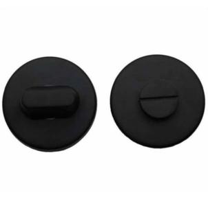 WC-Sluiting 8 mm Rond verdekt Blind Mat Zwart