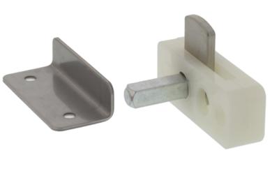 Kastsluiting opbouw met vierkante stift ten behoeve van 20 mm kastdeuren