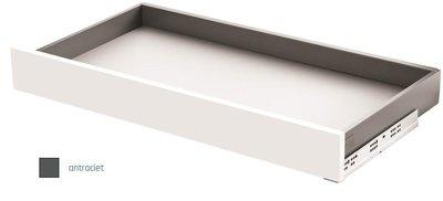 Slimbox ladeset Hoogte 80mm Diepte 550mm Antraciet Softclose
