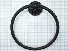 Handdoekring 160 mm ijzer zwart