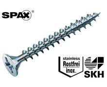 200 stuks Spax spaanplaatschroef platkop met pozidrive kruisindruk RVS 4.0 x 40 mm