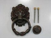 Deurklopper-leeuwenkop-ijzer-geroest