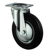 Transportwiel met bevestigingsplaat 160 mm