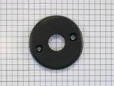 Losse ronde rozet ijzer zwart tbv deurkruk