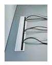 Kabeldoorvoer Metaal ALU-Look 220 x 72.5 mm