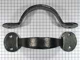 Vaste handgreep smeedijzer zwart 170 mm